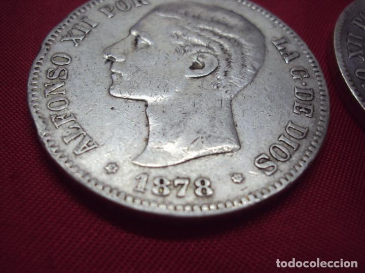 Monedas de España: LOTE 21 MONEDAS PLATA 5 PESETAS ALFONSO XII XIII PROVISIONAL ETC... - Foto 8 - 185720321