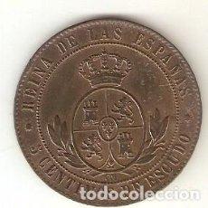 Monedas de España: MONED3-137. 5 CÉNTIMOS DE ESCUDO. BARCELONA 1867 V.S. 198. Lote 6177527
