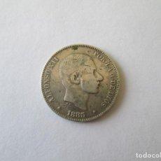 Monedas de España: ALFONSO XII * 50 CENTAVOS DE PESO 1885 * FILIPINAS * PLATA. Lote 186029875