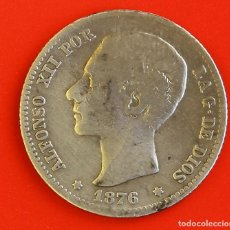 Monedas de España: 1 PESETA 1876 DEM ESTRELLAS (1-)(7-) BC. Lote 186063516