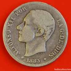 Monedas de España: 2 PESETAS 1883 MSM ESTRELLAS (--)(--) BC+. Lote 186065541