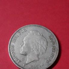 Monedas de España: ALFONSO XIII. 5 PESETAS. 1892. Lote 186112565