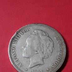 Monedas de España: ALFONSO XIII. 5 PESETAS. 1894. Lote 186112621