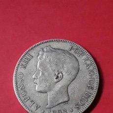 Monedas de España: ALFONSO XIII. 5 PESETAS. 1898 (18-98). Lote 186112722