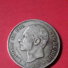 Monedas de España: ALFONSO XII. 5 PESETAS. 1885 (18-87) . Lote 186112855