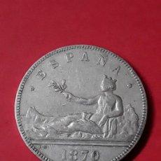 Monedas de España: GOBIERNO PROVISIONAL. 5 PESETAS. 1870 (18-70) . Lote 186112982