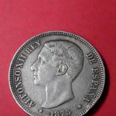 Monedas de España: ALFONSO XII. 5 PESETAS. 1875 (18-75). Lote 186113123
