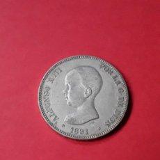 Monedas de España: ALFONSO XIII. 5 PESETAS. 1891 (18-91) . Lote 186113177