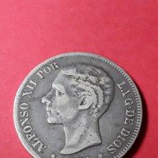 Monedas de España: ALFONSO XII. 5 PESETAS. 1881. Lote 186113456