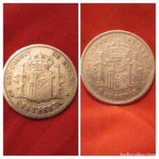 Monedas de España: MONEDAS PLATA 1 PESETA 1904 S.M V Y 5 PTAS 1890 M.P M. Lote 186115938