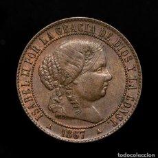 Monedas de España: ESPAÑA - 2 1/2 CÉNTIMOS DE ESCUDO - ISABEL II (1833-1869) SEGOVIA. (OM) - 1867. – BRONCE R 3138 EBC. Lote 186460817