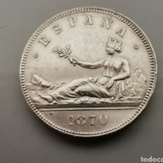 Monedas de España: EXCELENTES 5 PESETAS 1870 *18 70 PLATA GOBIERNO PROVISIONAL. Lote 187126623