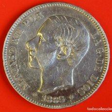 Moedas de Espanha: 5 PESETAS 1885 MSM ESTRELLAS (18)(87) MBC+. Lote 187453051