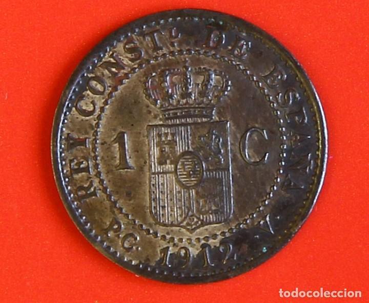 Monedas de España: 1 CENTIMO 1912 PCV Estrellas (2) EBC - Foto 2 - 187453266