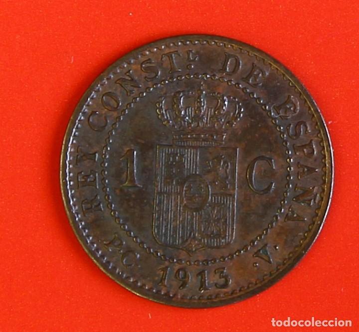Monedas de España: 1 CENTIMO 1913 PCV Estrellla (3) MBC+ - Foto 2 - 187453462