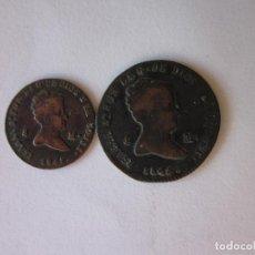 Monedas de España: 2 Y 4 MARAVEDÍS. ISABEL II. SEGOVIA. 1845.. Lote 187504862