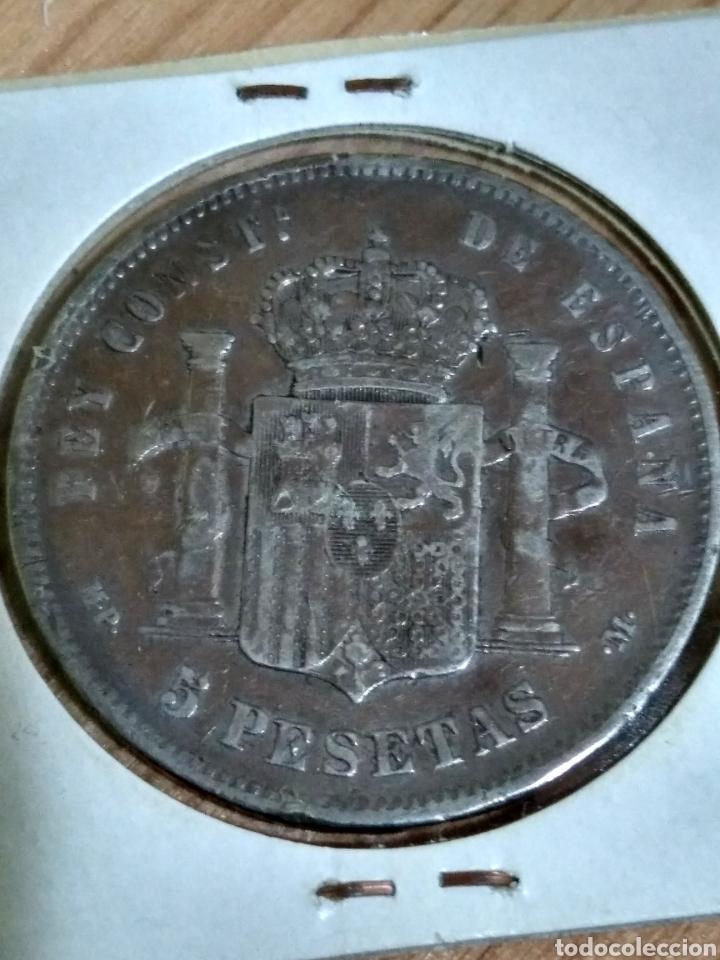 Monedas de España: Moneda Plata Alfonso XIII 1888 5 pesetas - Foto 2 - 187523048