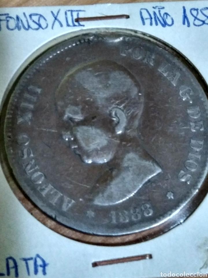 MONEDA PLATA ALFONSO XIII 1888 5 PESETAS (Numismática - España Modernas y Contemporáneas - De Isabel II (1.834) a Alfonso XIII (1.931))