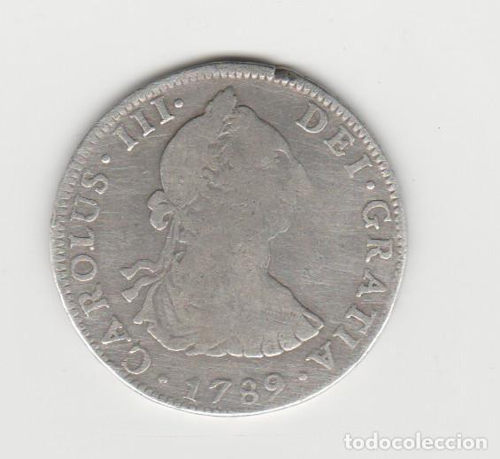 CARLOS III- 4 REALES- 1789-MEXICO- RARA (Numismática - España Modernas y Contemporáneas - De Reyes Católicos (1.474) a Fernando VII (1.833))