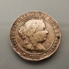 Monedas de España: MONEDA 5 CÉNTIMOS DE ESCUDO 1867 ISABEL II SEVILLA. Lote 188516602