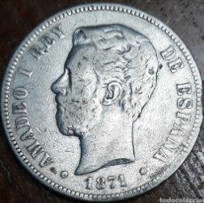 Monedas de España: MONEDA ESPAÑA AMADEO I 5 PESETAS 1871. Lote 188535233