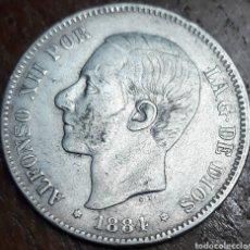 Monedas de España: MONEDA ESPAÑA ALFONSO XII 5 PESETAS MSM 1884 *84. Lote 188536871