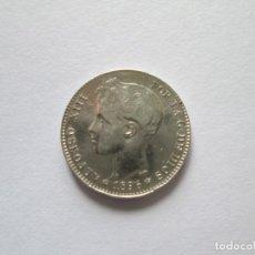 Monedas de España: ALFONSO XIII * 1 PESETA 1896*96 PG V * PLATA. Lote 188810892