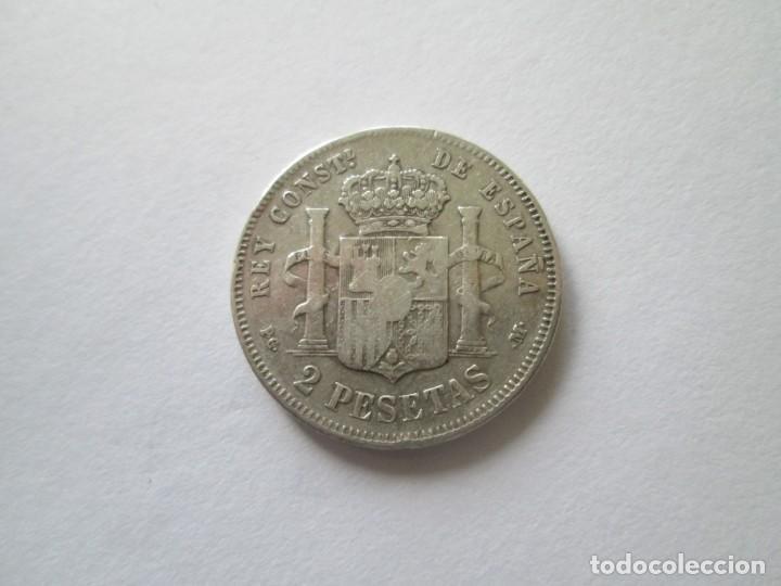 Monedas de España: ALFONSO XIII * 2 PESETAS 1892*-2 *PG M * PLATA - Foto 2 - 188812911