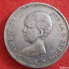 Monedas de España: MONEDA DE PLATA, 5 PESETAS 1888 MP M, ALFONSO XIII. Lote 181741771