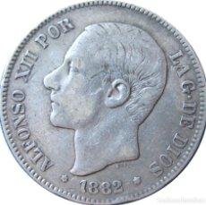 Monedas de España: ALFONSO XII, 5 PESETAS 1882 - (DURO DE PLATA).. Lote 189181257