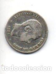 Monedas de España: 10 centavos de peso de MANILA Alfonso XII 1.881 de PLATA. . - Foto 2 - 189425571
