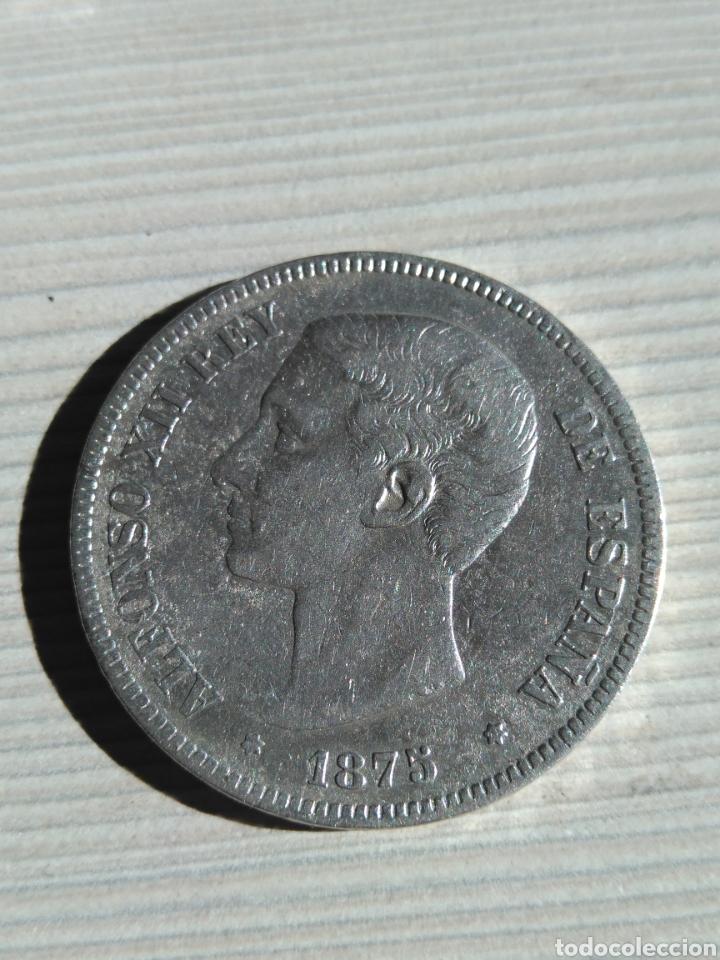 5 PESETAS 1875 MONEDA DE PLATA (Numismática - España Modernas y Contemporáneas - De Isabel II (1.834) a Alfonso XIII (1.931))