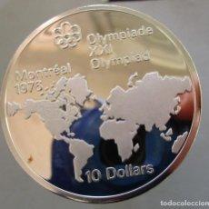 Monedas de España: CANADA .10 DOLARES DE PLATA . XXI OLIMPIADA DE MONTREAL . GRAN TAMAÑO Y PESO . ACABADO PROOF. Lote 293858778