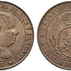 Monedas de España: ISABEL II. BARCELONA. 1/2 CÉNTIMO DE ESCUDO. 1866. OM. SC-, SIN CIRCULAR, BRILLO ORIGINAL.. Lote 189972413