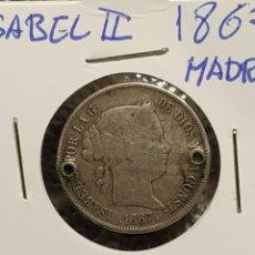 Monedas de España: ISABEL II 40 CENTIMOS DE ESCUDO 1867(MADRID). Lote 190082158