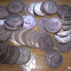 Monedas de España: DUROS DE 5 PESETAS DE PLATA ORIGINALES. 12 E UNIDAD.. Lote 190166047
