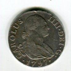 Monedas de España: 2 REALES CAROLUS IIII AÑO 1797 MF MADRID PLATA. Lote 30298544