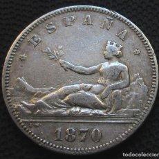 Monete da Spagna: 2 PESETAS 1870 *18*-*70* GOB. PROVISIONAL - REF. 6 - 4 FOTOS -PLATA-. Lote 190457406