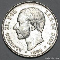 Monedas de España: ALFONSO XII, 5 PESETAS DE 1884, (*18 *84) - MSM - PLATA. Lote 190569397