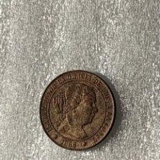Monedas de España: ISABEL II 1/2 CENTIMO DE ESCUDO 1866 BARCELONA (OM) SE ADJUNTA FICHA DE AUTENTICIDAD.. Lote 190583178