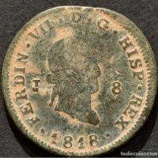 Monedas de España: 8 MARAVEDIS 1818 JUBIA FERNANDO VII ESPAÑA. Lote 190625783