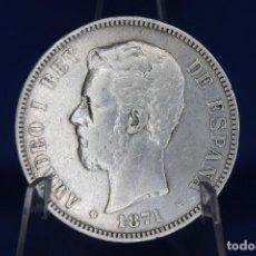 Monedas de España: ESPAÑA VARIANTE SIN PUNTO AMADEO I 1871 ESTRELLAS 18-71 - SD M PLATA R 3193. Lote 190866357