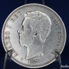 Monedas de España: ESPAÑA VARIANTE COLUMNA AMADEO I 1871 ESTRELLAS 18-71 - SD M PLATA R 3194. Lote 190866508