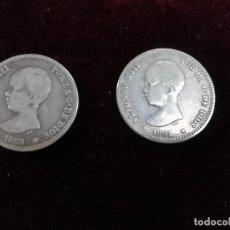 Monedas de España: LOTE DE CONJUNTO DE 2 MONEDAS DE ALFONSO XII. Lote 190996347