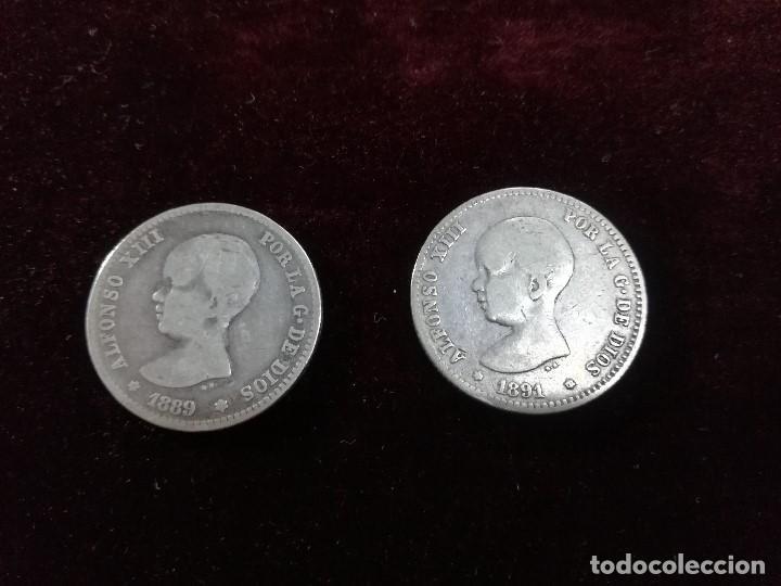 Monedas de España: LOTE DE CONJUNTO DE 2 MONEDAS DE ALFONSO XII - Foto 2 - 190996347
