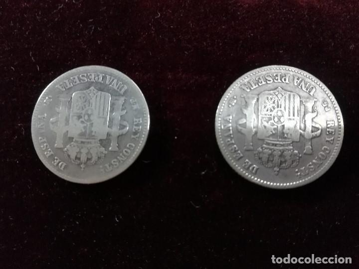Monedas de España: LOTE DE CONJUNTO DE 2 MONEDAS DE ALFONSO XII - Foto 3 - 190996347