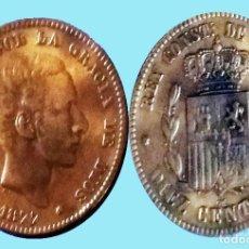Monedas de España: 10 CENTIMOS ALFONSO XII COBRE 1877 BARCELONA OM. EXCELENTE BUENA CONSERVACION MAS. EBC+. CATº. 200 €. Lote 191002093