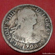 Monedas de España: MONEDA PLATA 4 REALES CARLOS IV IIII 1798 POTOSI PP MBC- ORIGINAL , B23. Lote 191511883