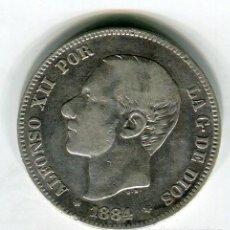Monedas de España: DOS (2) PESETAS ALFONSO XII 1884. Lote 52008731