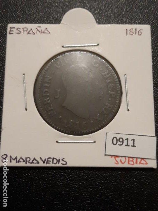 8 MARAVEDIS 1816 CECA DE JUBIA (Numismática - España Modernas y Contemporáneas - De Reyes Católicos (1.474) a Fernando VII (1.833))